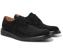 Bristol Leather-trimmed Suede Derby Shoes