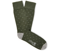 + Corgi Polka-Dot Cotton-Blend Socks