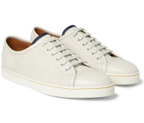 Levah Cap-toe Brushed-leather Sneakers - Neutral