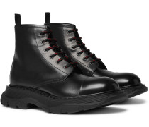 Exaggerated-sole Leather Boots