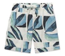 Printed Linen Pyjama Shorts
