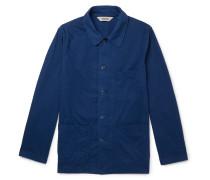 Garment-Dyed Cotton Overshirt