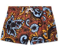 Short-length Paisley-print Swim Shorts