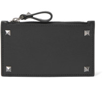 Valentino Garavani Rockstud Leather Zipped Cardholder