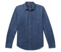 Ronnie Slim-fit Denim Shirt - Blue