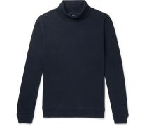 Max Loopback Cotton-jersey Rollneck Sweatshirt - Navy