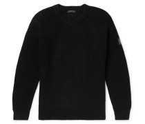 Knitted Cotton Sweater - Black