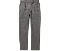 Slim-fit Virgin Wool And Cotton-blend Trousers