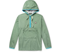 Osaze Logo-appliquéd Nylon Hooded Anorak - Gray green
