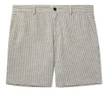 Striped Slub Cotton-Blend Bermuda Shorts
