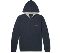 Stretch-cotton Jersey Zip-up Hoodie