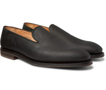 Positano Waxed-Cotton Loafers