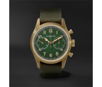 1858 Geosphere Limited Edition Automatic Chronograph 42mm Bronze and NATO Watch, Ref No. 119908