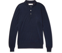 Contrast-tipped Cashmere And Silk-blend Polo Shirt