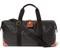 Medium Clipper Pebble-grain Leather Holdall - Black