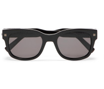 Square-frame Acetate Sunglasses - Black