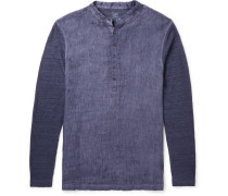 Slub Linen Henley Shirt