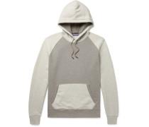 Colour-block Fleece-back Cotton-blend Jersey Hoodie - Gray