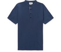 Organic Cotton-Jersey Henley T-Shirt