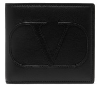 Valentino Garavani Logo-Appliquéd Leather Billfold Wallet