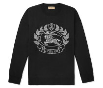 Merino Wool-blend Jacquard Sweater - Black