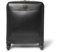 Textured-leather Wheeled Suitcase