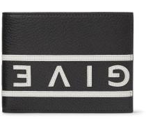 Logo-appliquéd Full-grain Leather Billfold Wallet - Black
