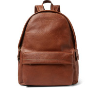 Full-grain Leather Backpack - Tan
