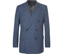 Harry's Navy Double-breasted Wool Suit Jacket
