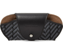 Pelletessuta Leather Sunglasses Case - Black