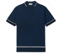Contrast-Tipped Merino Wool Polo Shirt