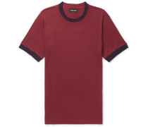 Slim-fit Contrast-trimmed Jersey T-shirt