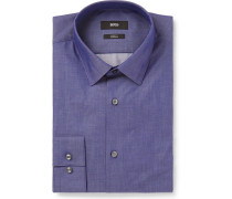 Blue Isko Slim-fit Stretch-cotton Chambray Shirt