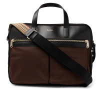 Nylon And Leather Briefcase