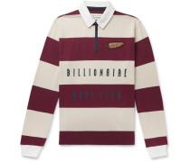 Appliquéd Striped Cotton-Jersey Half-Zip Rugby Shirt