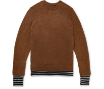 Wool And Cashmere-trimmed Knitted Sweater