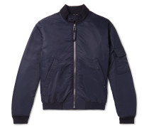 Padded Shell Bomber Jacket - Navy