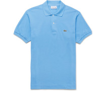 Cotton-piqué Polo Shirt - Light blue