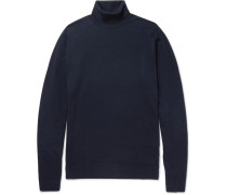 Cherwell Merino Wool Rollneck Sweater - Midnight blue