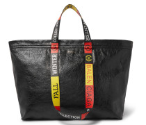 Arena Medium Creased-leather Tote Bag