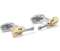 Guitar Gold And Silver-tone Cufflinks