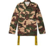 Oversized Canvas-trimmed Camouflage-print Cotton Field Jacket