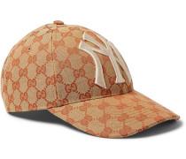 + New York Yankees Appliquéd Logo-print Coated-canvas Cap - Brown