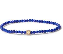 Lapis And 14-karat Gold Bracelet - Blue