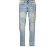 Shotgun Skinny-fit Distressed Stretch-denim Jeans