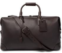 Leather Holdall - Dark brown