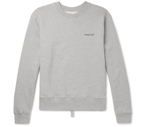 Logo-print Loopback Cotton-jersey Sweatshirt - Gray