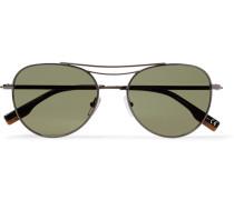 Aviator-style Gunmetal-tone Sunglasses - Gunmetal