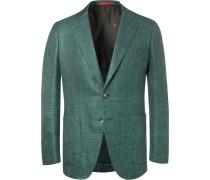 Forest-green Sailor Wool, Silk And Linen-blend Blazer - Green
