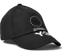 Embroidered Logo-print Stretch-cotton Baseball Cap